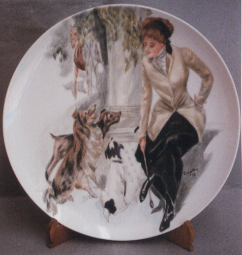 Hand Painted Plate by Dorothy Oaks