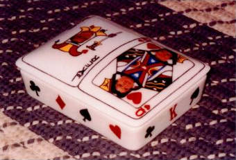Playing Card Box Painted by Evelyn Rolsing