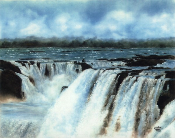 Waterfalls Painted by Maria Cristina Llanos