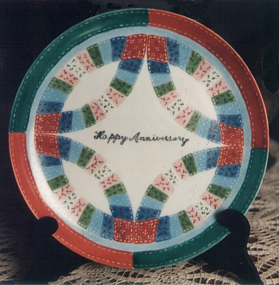 Quilters Plate by Marian Peters