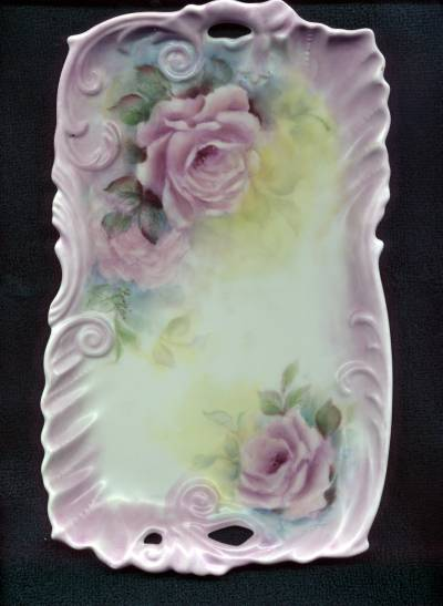 Rose Tray Painted by Linda Tiller
