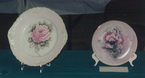 Two Plates Hand Painted by Wylma McClelland